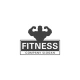 Fitness  logo design. Stock Photo