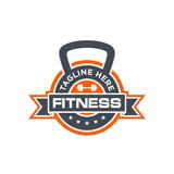 Fitness Logo Template royalty free illustration