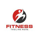 Fitness Logo Template Stock Photography