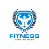 Fitness Logo Template Stock Photo