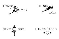 Fitness logos Stock Photography