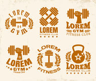 Fitness logos Stock Photos