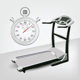 Fitness machine with Timer Royalty Free Stock Photos