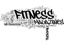 Fitness Magazines Word Cloud Concept Stock Image