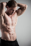 Fitness male model Stock Photo