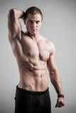Fitness male model Stock Images