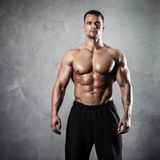 Fitness male model Stock Image
