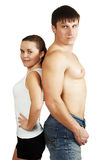 Fitness Man And Fitness Woman Royalty Free Stock Photography
