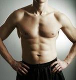 Fitness man body. Studio shot royalty free stock photos