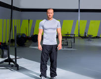 Fitness man at crossfit gym standing Royalty Free Stock Images