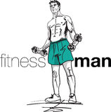 Fitness man illustration Stock Images