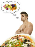 Thinking in his diet. Stock Photography