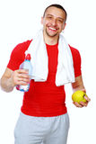 Fitness man just after a workout Royalty Free Stock Photo