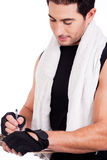 Fitness man marking Stock Photography