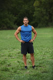 Fitness man in the park Royalty Free Stock Photo