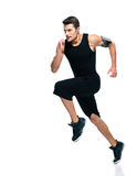 Fitness man running isolated Royalty Free Stock Image