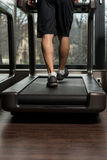 Fitness Man Running On Treadmill Royalty Free Stock Photo