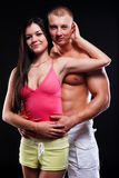Fitness man and woman Royalty Free Stock Image