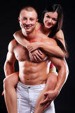 Fitness man and woman Royalty Free Stock Images