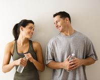 Fitness man and woman Stock Images