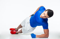 Fitness man working out isolated Royalty Free Stock Photography