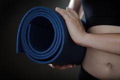 Fitness mat Royalty Free Stock Photography