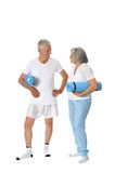 With fitness mats Royalty Free Stock Photos