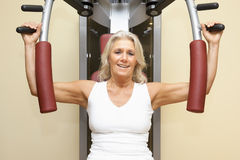 Fitness mature woman Royalty Free Stock Photography