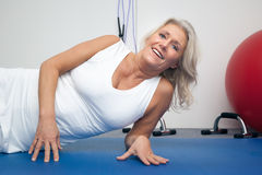 Fitness mature woman Royalty Free Stock Photos