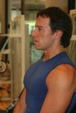 Fitness Men Training. Expression of a Fitness Men / Tired and Concentrated Stock Images