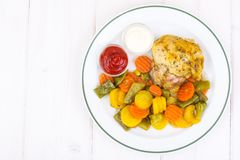 Fitness menu. Proteins and carbohydrates stock images