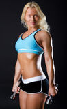 Fitness  model is posing Royalty Free Stock Photo
