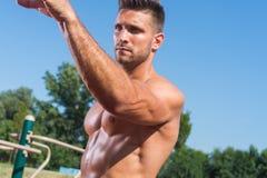 Fitness model posing Stock Photo