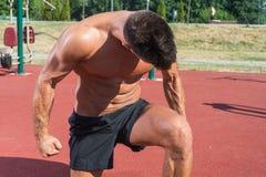 Fitness model posing Stock Photos
