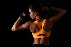 Fitness model posing Royalty Free Stock Photos