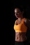 Fitness model posing Royalty Free Stock Images