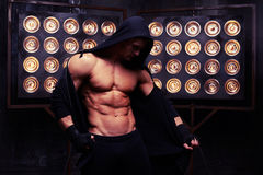 Free Fitness Model Showing His Athletic Strong Body In Studio Lights Stock Photography - 80087862