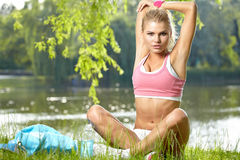 Fitness Model . Royalty Free Stock Images