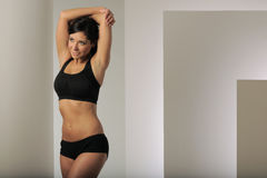 Fitness Model Stretching Arm Royalty Free Stock Photo