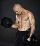 Fitness model workout Stock Image