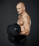 Fitness model workout Stock Photos