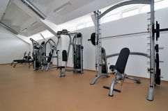 Fitness modern interior Royalty Free Stock Photo