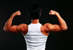 Fitness muscled man back Royalty Free Stock Image