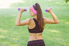 Fitness Muscular Female Body Royalty Free Stock Images