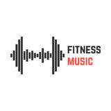 Fitness music with dumbbell equalizer Royalty Free Stock Photo