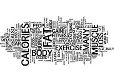 Fitness Myths That Are Responsible For Thousands Of Fitness Failures Text Background  Word Cloud Concept Royalty Free Stock Photography