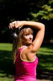 Fitness in nature royalty free stock photo