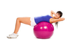 Fitness On The Ball Royalty Free Stock Image