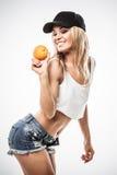 Fitness orange Royalty Free Stock Photo