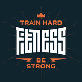 Fitness - original lettering. Vector print for t-shirt or gym  Stock Images